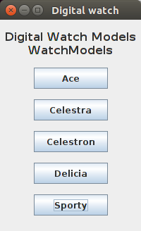 Java WatchModels